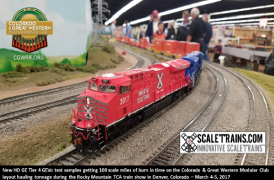 ScaleTrains let us play with samples of their new ES44-AC