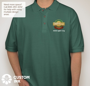 CGWRR Club Polo shirt featuring full-color embroided club logo