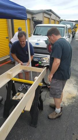 Tom &Kip working on the module frame